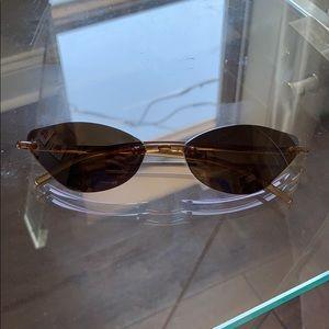 Polarized retro 90s Frameless sunglasses